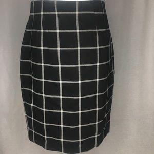 Black and white plaid stretch skirt - Nordstrom